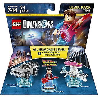 Lego Dimensioner Level Pack Tilbage til fremtiden Video Game Legetøj