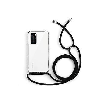 Custodia Huawei P40 Pro trasparente con cavo