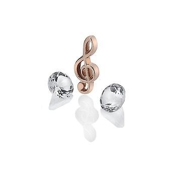 Anais Hot Diamonds Anais Rose placat cu aur Treble Clef Charm AC123