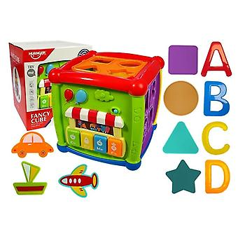 Speelgoed vormsoorteerder - Educatieve kubus - 19x19x16 cm