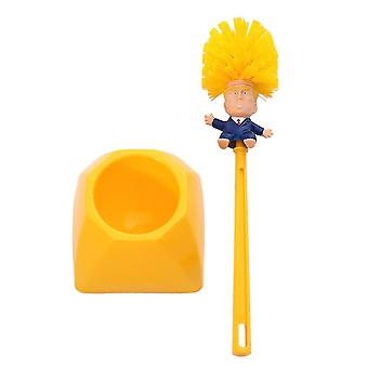 Creative Trump Toilet Brush- Holder Donald Trump Toilet Brush Head Silicone Bathroom Wc Cleaning Brushes Set
