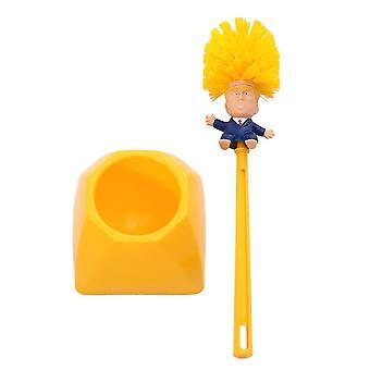 Creative Trump Toilet Brush- Holder Donald Trump Toilet Brush Head Silicone Bathroom Wc Cleaning Brushes Set