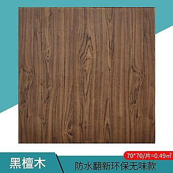 Wood Grain 3d Foam Adhesive Waterproof Wallpaper