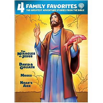 4 Family Favorites: Greatest Adventures Of Bible [DVD] USA import