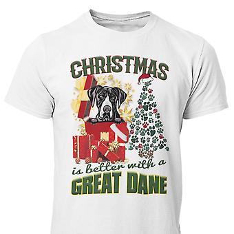 Große Dänin Weihnachten Hund T-shirt Grand Danois