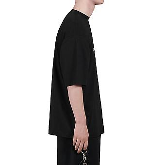Balenciaga 620969tivd51000re Men's Black Cotton T-shirt
