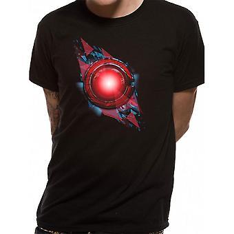 Justice League Unisex Adults Cyborg Symbol Design T-shirt