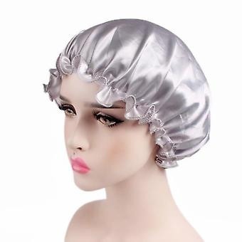 Elastic Hair Shower Cap, Loose & Tight Bands