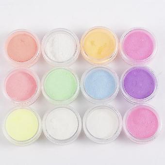 Fosforescerende pulver, pigment, lysende og skinnende nail art innredning