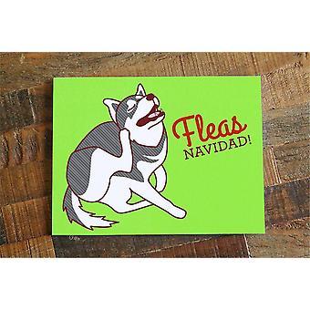 البراغيث نافيداد الكلب بطاقة عيد الميلاد