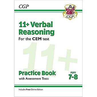 Novo 11 + livro de prática de raciocínio verbal CEM & testes de avaliação-idades 7-8 (com edição online)
