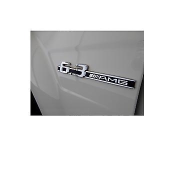 كروم مرسيدس بنز 6.3 AMG الجانب شارة الجناح - C63 CL63 CLS63 CLK63 E63 ML63 R63 SL63 AMG (حزمة من 2)