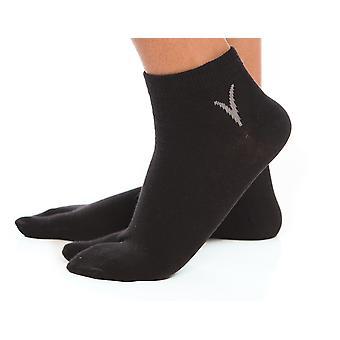 Černý kotník ležérní Flip-flop Tabi Velké ponožky