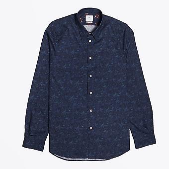 PS Paul Smith - Mountain Peaks Print Shirt - Navy Blue