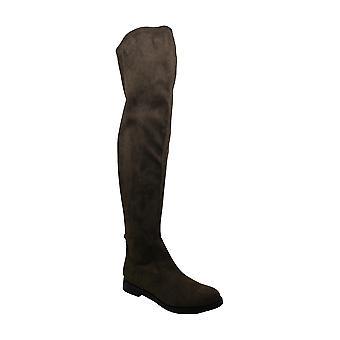 Kenneth Cole reação mulheres vento tecido redondo Toe joelho botas de moda de alta