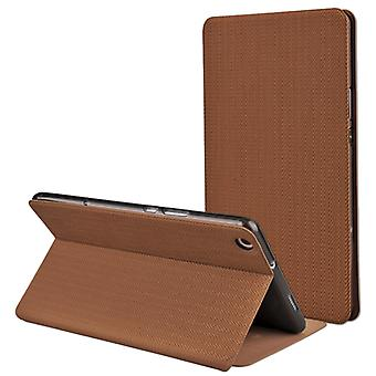 MOFI for  Huawei MediaPad M3 Lite 8.0 PU + Silicone Wheat Texture Horizontal Flip Leather Case with Holder(Brown)