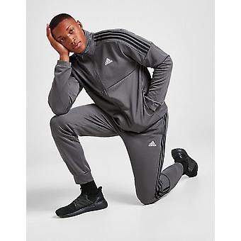 New adidas Men's 3-Stripes Poly Track Pants Grey