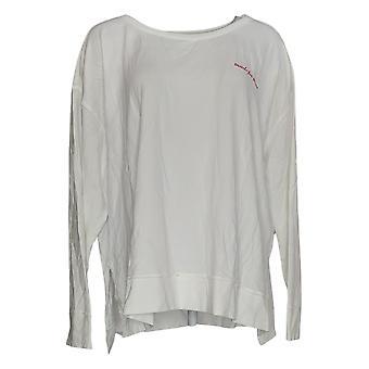 Rachel Hollis Ltd Women's Sweater Round Neck Sweatshirt White A381402