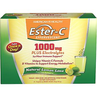 American Health Ester-C 1000 mg effervescent 21 packets Lemon Lime