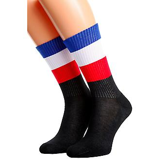 Extremely Soft Socks With Ribbed Flag Knit
