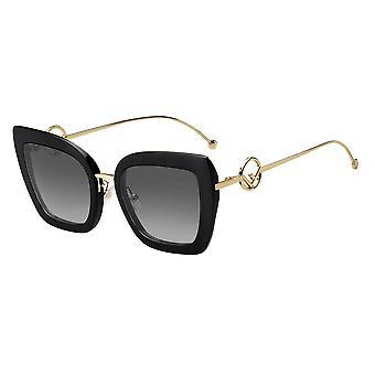 فيندي FF0424/F/S 807/9O أسود / رمادي داكن التدرج النظارات الشمسية