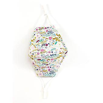 Maschera facciale in cotone con stampa floreale Cali regolabile