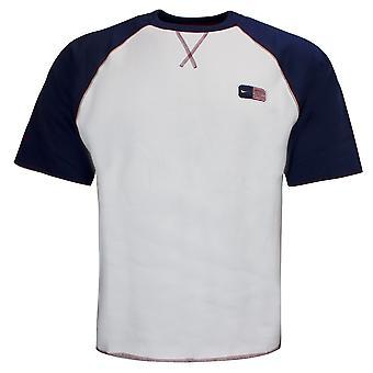 Nike Miesten T-paita Crew Sweat Colourblock To Navy White 172998 100