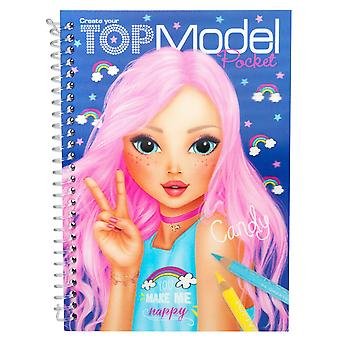 Depesche 7857-l-coloring book with 3d cover topmodel, assorted
