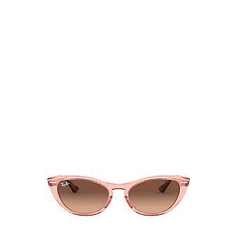 Ray-Ban RB4314N transparente rosa weibliche Sonnenbrille