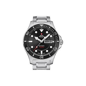 Reloj masculino militar suizo por Chrono SM34068.12, cuarzo, 42 mm, 10ATM