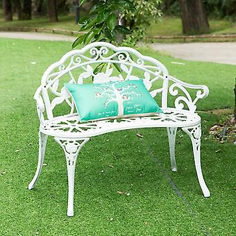 Love Seat Cast Aluminum Leisure Chair Park Yard Bench Garden Seat For Furniture