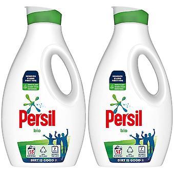 2x di 53 lavaggi Persil Bio Lavanderia Lavaggio Detersivo Liquido Detergente 1.431L, totale 2.86 W