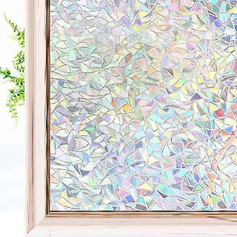 3d Rainbow Effect Window Films Privacy Decorative Anti-uv Non-adhesive Static