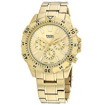 Fossil Men's Garrett Gold Dial Watch - FS5772