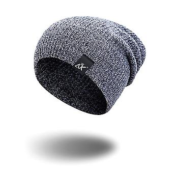 Winter Outdoor Bonnet Skiing Hat, Soft Acrylic Slouchy Knitted Cap