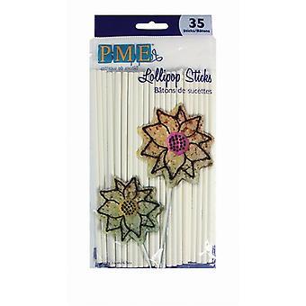 PME Lollipop Sticks 160mm 35 pack