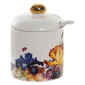Sugar Bowl Dekodonia Floral Glam (7 x 7 x 8 cm)