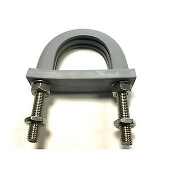 Lätta hög temperatur flamskyddsmedel vibrationsdämpande Gummifodrad U-bult 57 mm ID-galvaniserat milt stål