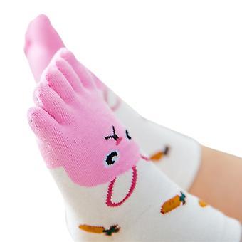 Baby Foot Socks Novelty, Baby Cartoon Five Fingers Anti-slip Winter Shoes