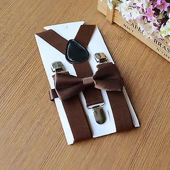 Elastické flexibilné nastaviteľné detské popruhy Solid Fashion Podväzky Bow Tie Set