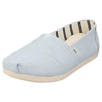 Toms Alpargata Heritage Womens Slip On Shoes in Pastel Blue