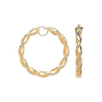 Pendientes de aro criollo grande de 50 mm de oro grande de la eternidad de oro grande