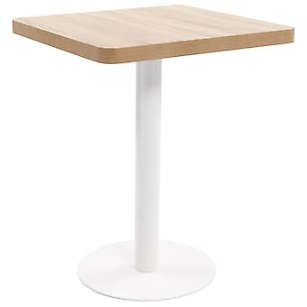 Bistro Table Light Brown 60x60 Cm Mdf