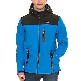 Trespass Мужская Хебарон Открытый Ходьба Пешие прогулки водонепроницаемый куртка пальто - синий