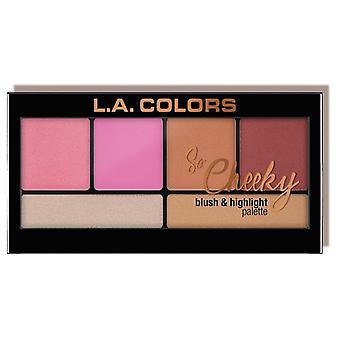 L.A. Colors So Cheeky Palette Rouge und Highlighter Rosa und Spielerische