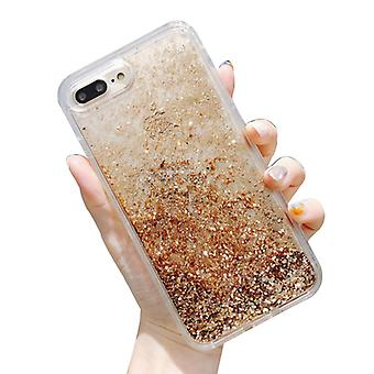 TPU liquid quicksand starry silver iphone 11/12 mobile phone case with lanyard hole