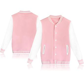 Men's And Women's Solid Cotton Baseball Jacket