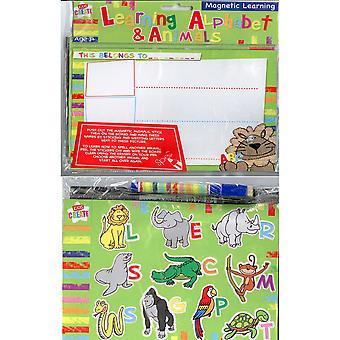 Animali e magnetico imparare l'alfabeto