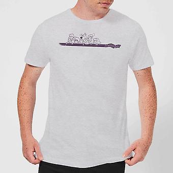Scooby Doo Those Meddling Kids Retro Men's Short Sleeve T-Shirt Tee Top - Grey
