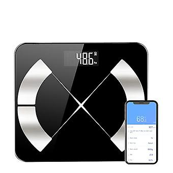 Smart Scale, Bluetooth Connected Body Weight Bathroom Scale, Bmi, Body Fat, Muscle Mass